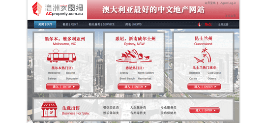 Australia chinese real estate web portal